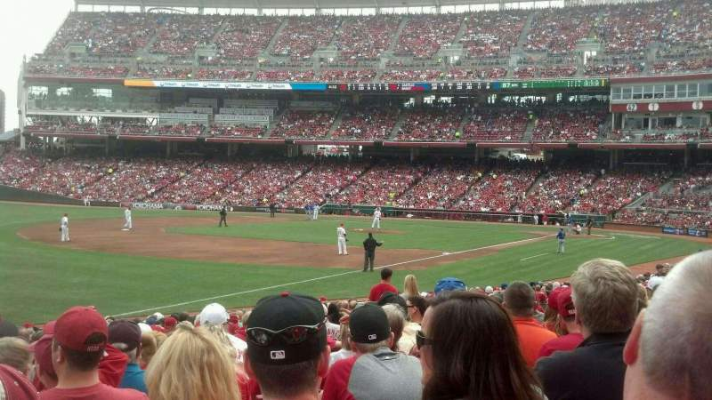 Seating view for Great American Ball Park Section 111 Row w Seat 16