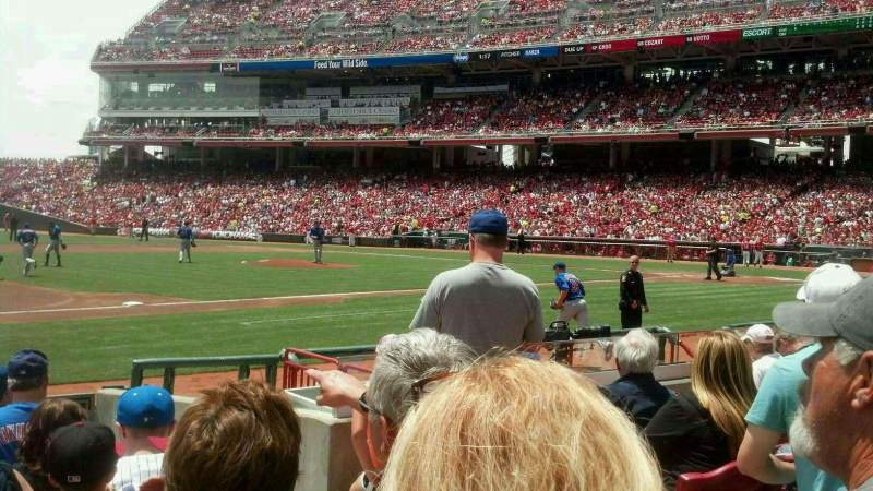 Seating view for Great American Ball Park Section 114 Row K Seat 5
