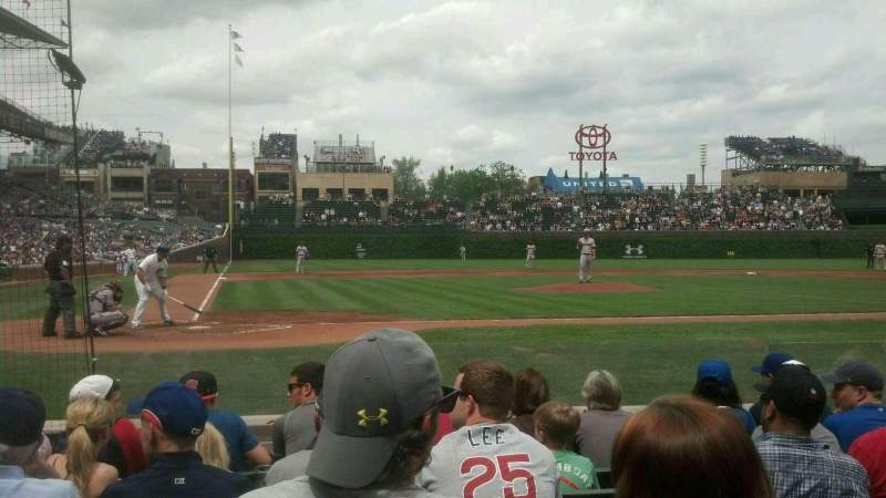 Seating view for Wrigley Field Section 26 Row 3 Seat 106