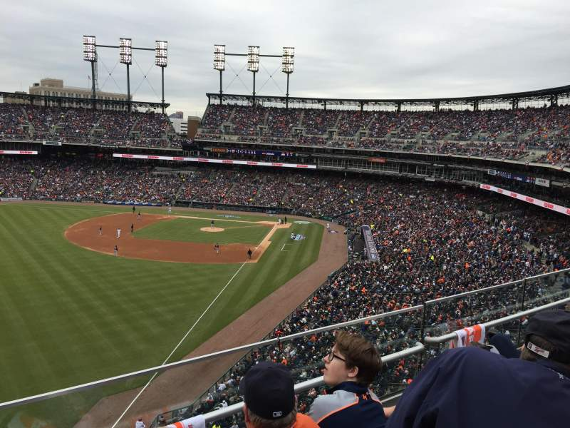 Seating view for Comerica Park Section 344 Row C Seat 18