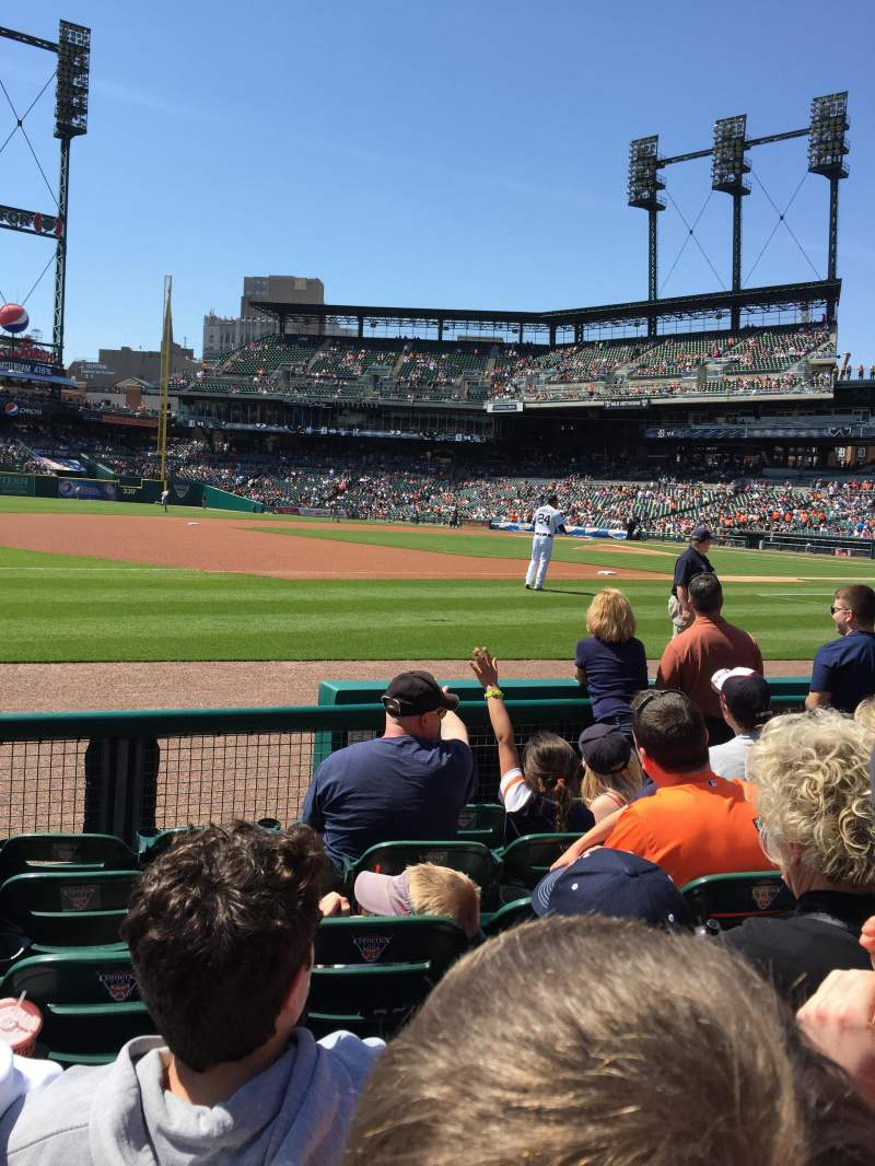 Seating view for Comerica Park Section 137 Row 6 Seat 13
