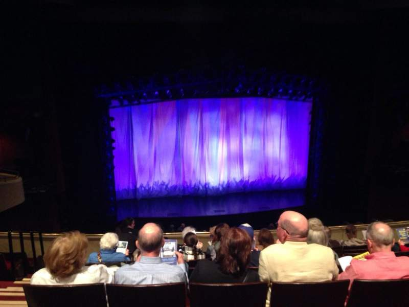 Seating view for Marquis Theatre Section MEZZC Row H Seat 102