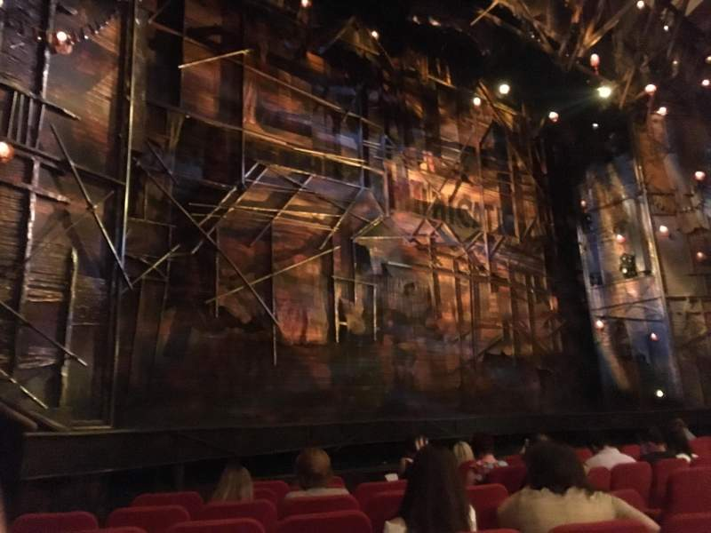 Seating view for Broadway Theatre - 53rd Street Section ORCL Row I Seat 14 And 16