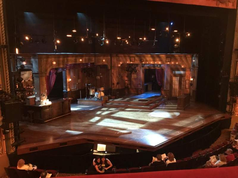 Seating view for Bernard B. Jacobs Theatre Section MEZZL Row A Seat 3 And 5