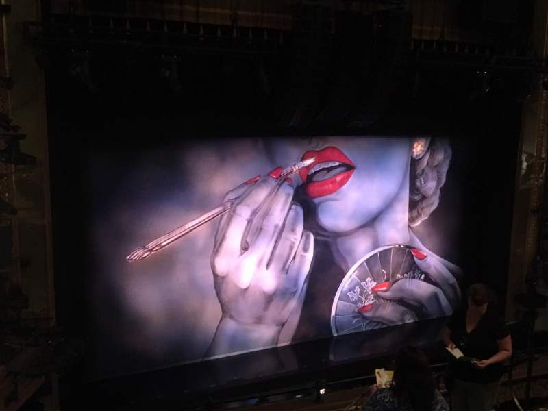 Seating view for Nederlander Theatre Section Mezzanine L Row G Seat 11 And 13