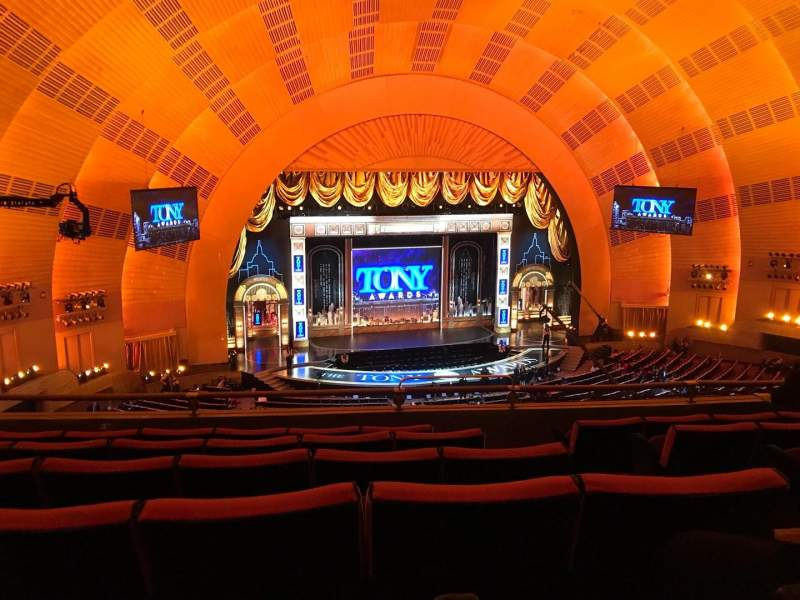 Seating view for Radio City Music Hall Section 2nd Mezzanine 5 Row F Seat 507 And 508