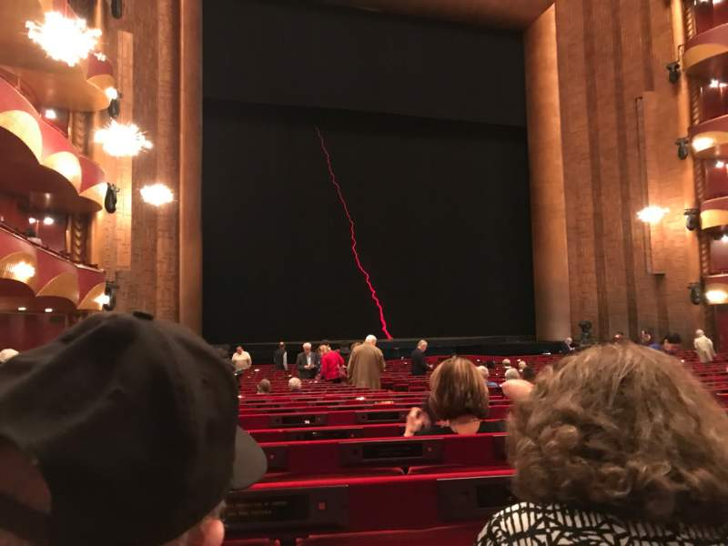 Seating view for Metropolitan Opera House - Lincoln Center Section ORCL Row X Seat 11 And 13