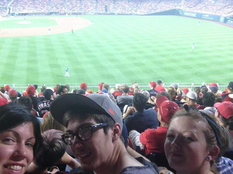 Seating view for Nationals Park Section 238 Row H Seat 13