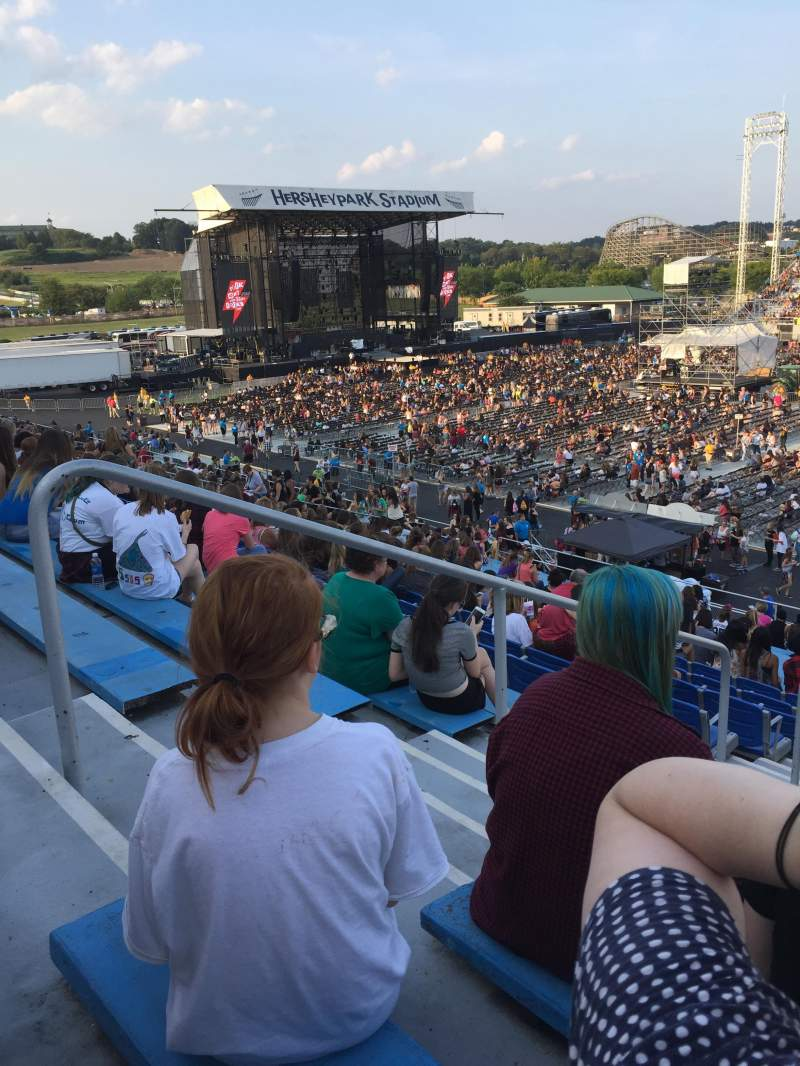 Seating view for Hershey Park Stadium Section 4 Row U Seat 30