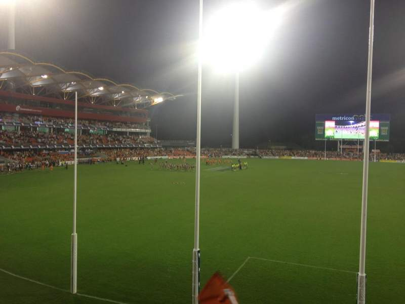 Seating view for Carrara Stadium Section 221 Row C Seat 485