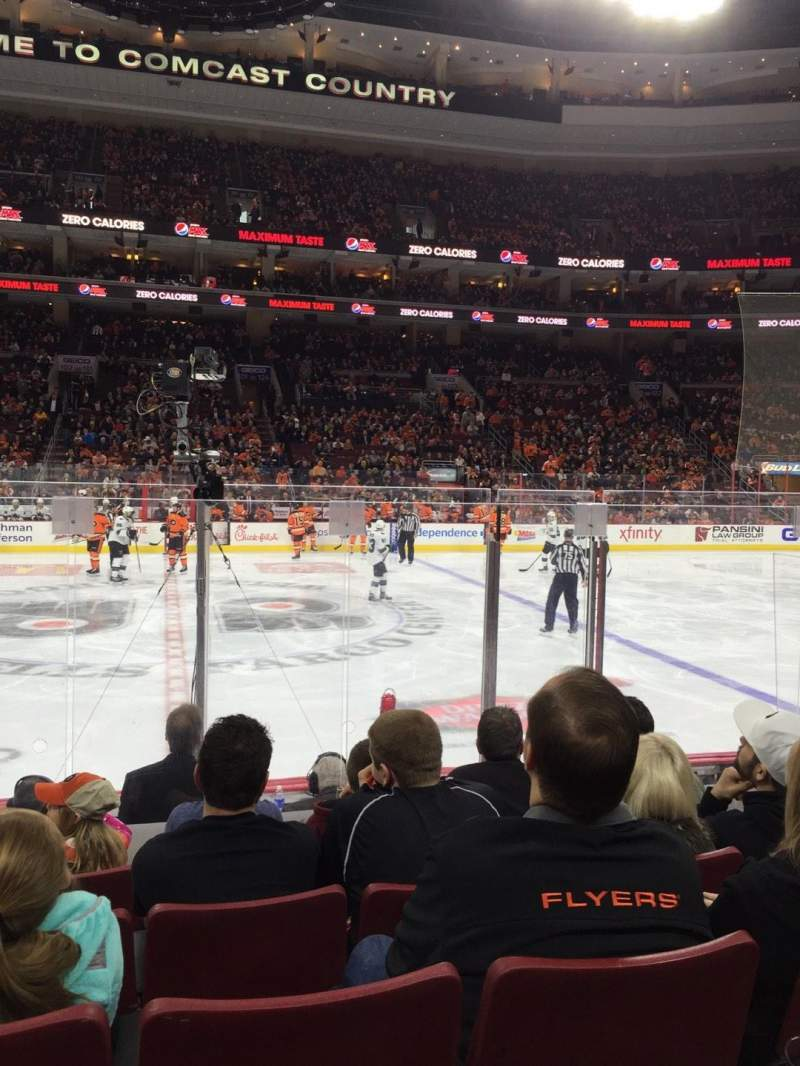 Seating view for Wells Fargo Center Section 113 Row 7 Seat 9