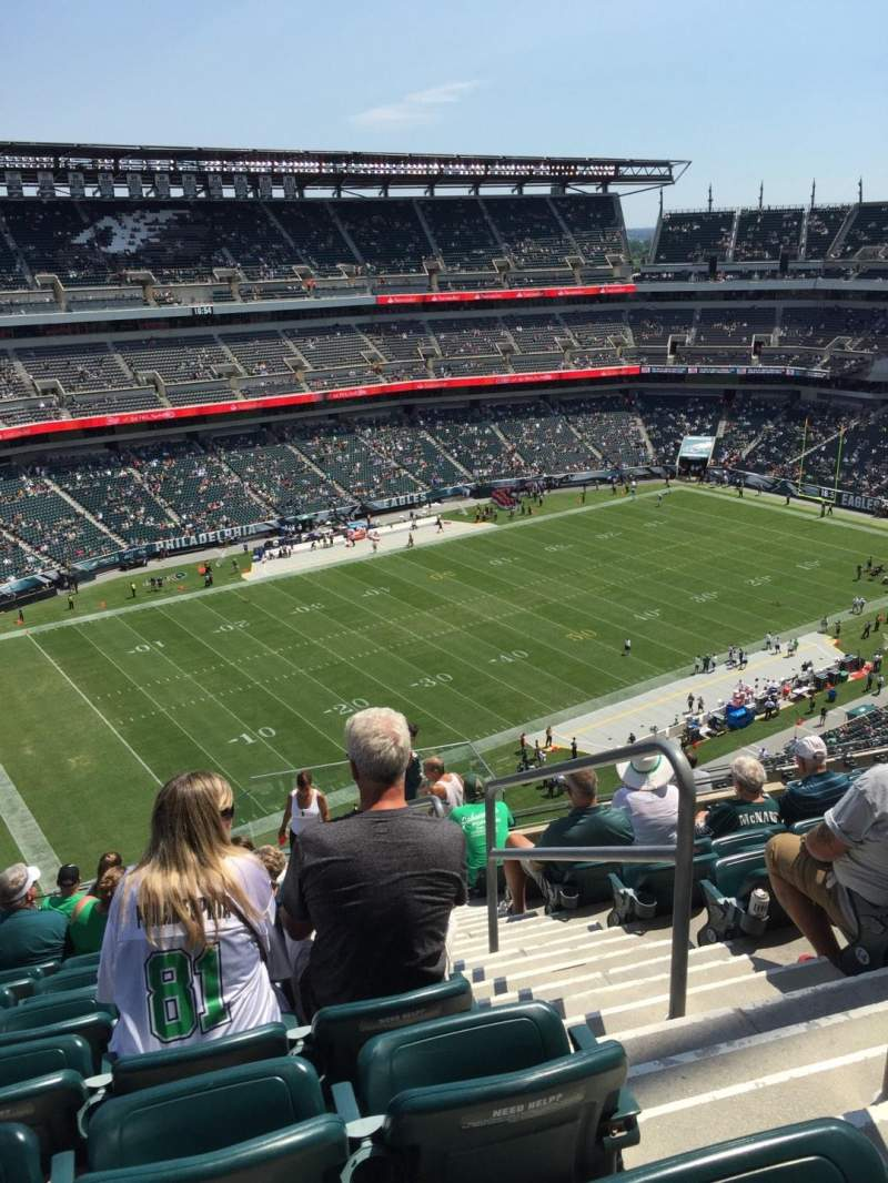 Seating view for Lincoln Financial Field Section 240 Row 17 Seat 1