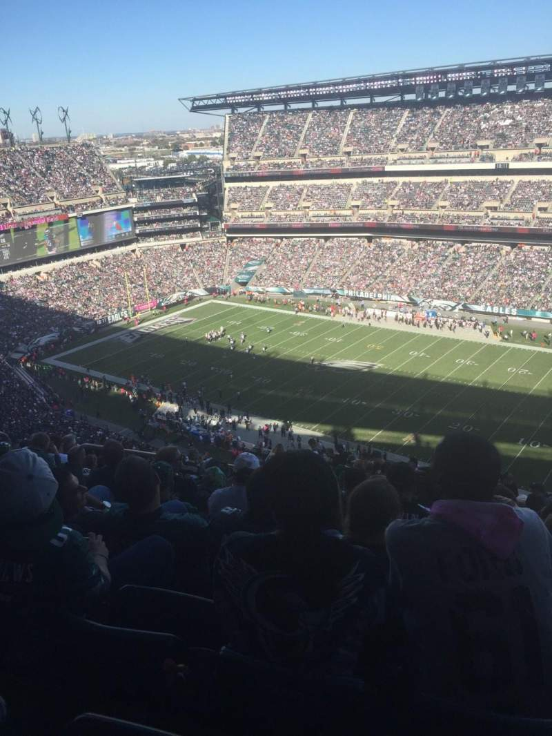 Seating view for Lincoln Financial Field Section 205 Row 23 Seat 22