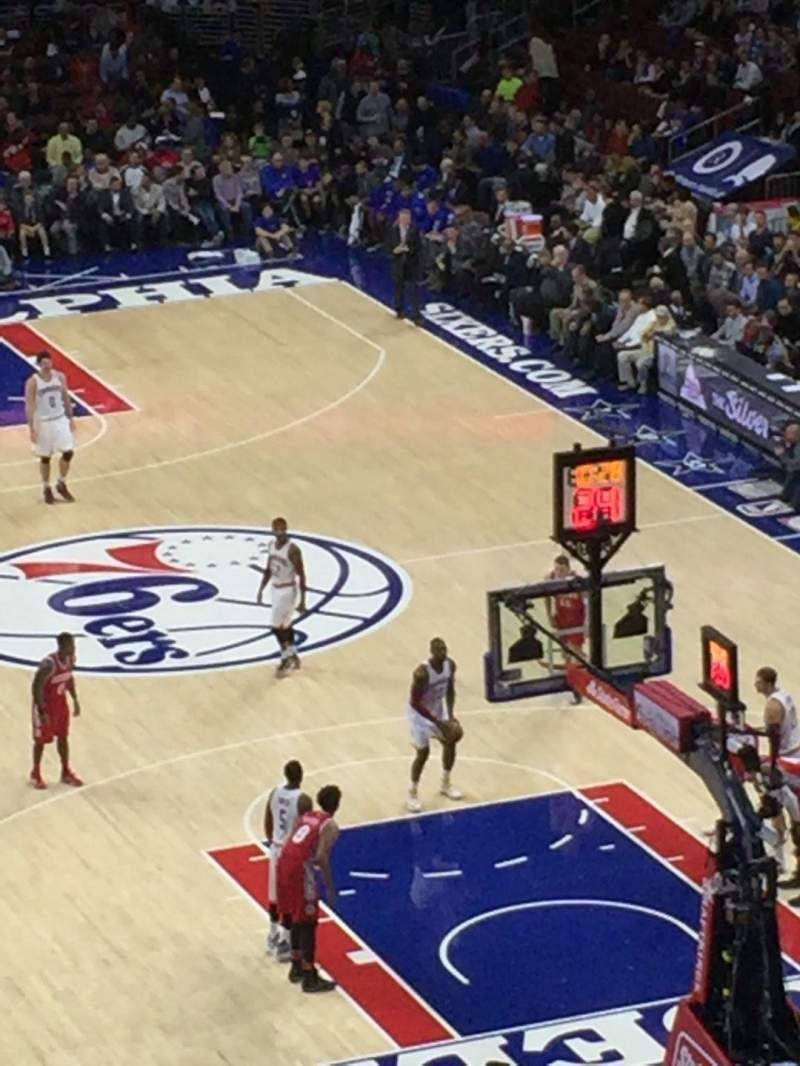 Seating view for Wells Fargo Center Section 218 Row 1 Seat 1