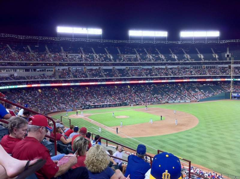 Seating view for Globe Life Park in Arlington Section 240 Row 6 Seat 6