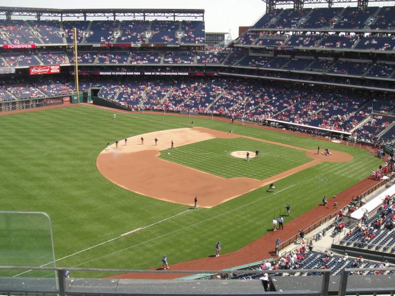 Seating view for Citizens Bank Park Section 330 Row 3 Seat 23
