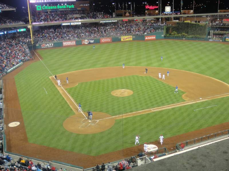 Seating view for citizens bank park Section 318 Row 1 Seat 10