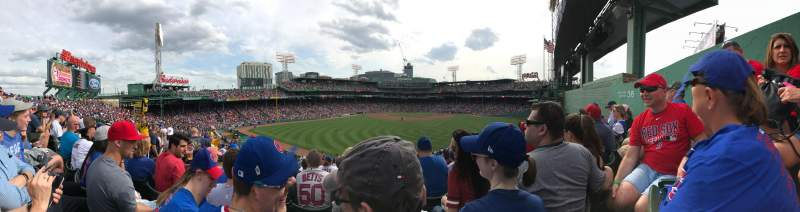 Seating view for Fenway Park Section Bleacher 36 Row 26 Seat 5-8