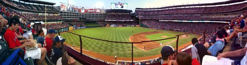 Seating view for Globe Life Park in Arlington Section 216 Row 2 Seat 6