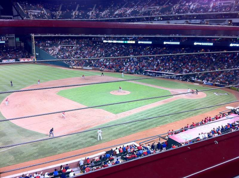 Seating view for Globe Life Park in Arlington Section 216 Row 1 Seat 5