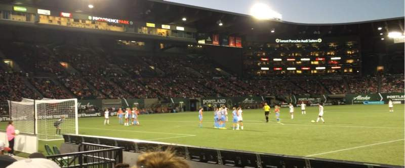 Seating view for Providence Park Section SD6 Row C Seat 10