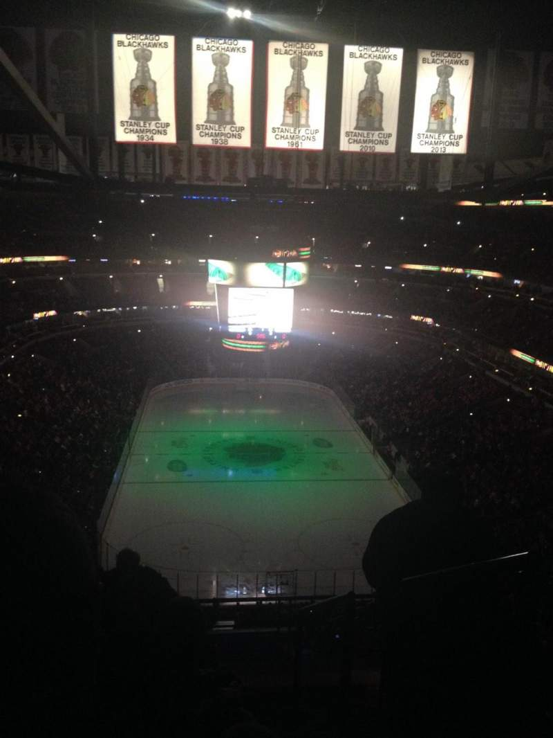 Seating view for United Center Section 310 Row 14 Seat 3