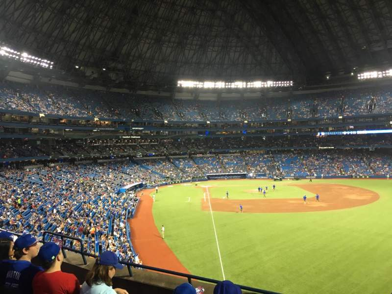 Seating view for Rogers Centre Section 210R Row 5 Seat 8