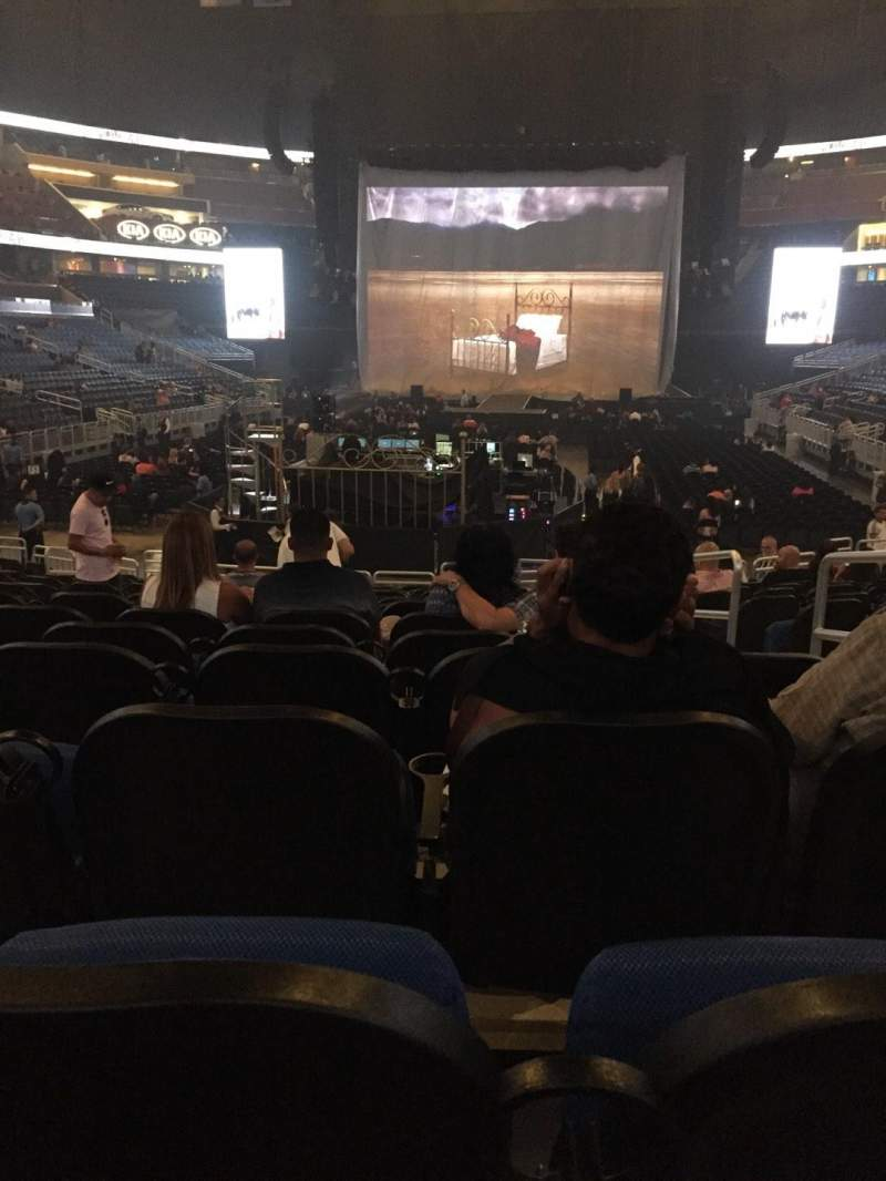 Seating view for Amway Center Section 110 Row 12 Seat 3