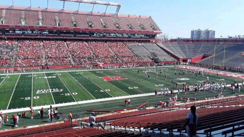 Seating view for High Point Solutions Stadium Section 107 Row 38 Seat 14