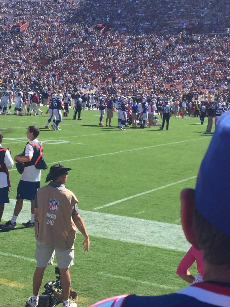 Seating view for Los Angeles Memorial Coliseum Section 19L Row 2 Seat 8