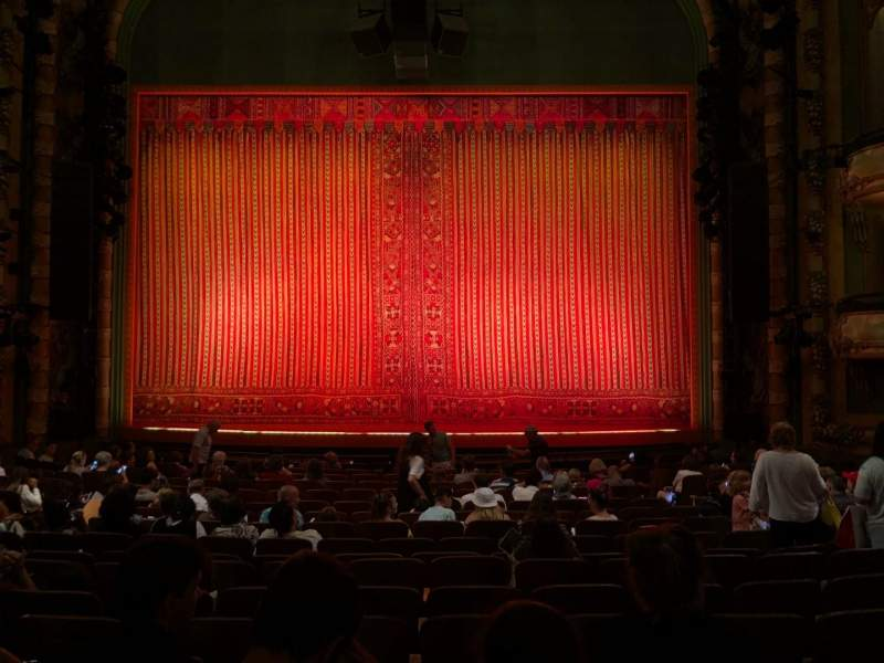 Seating view for New Amsterdam Theatre Section Orchestra C Row R Seat 106
