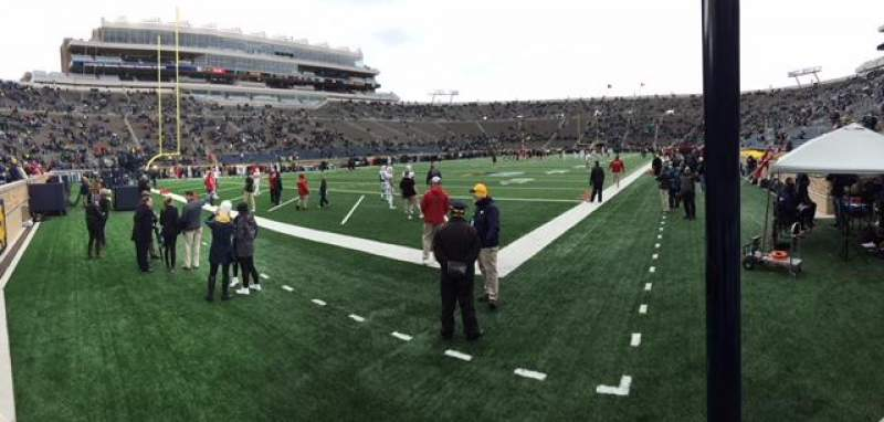 Seating view for Notre Dame Stadium Section 16 Row 3