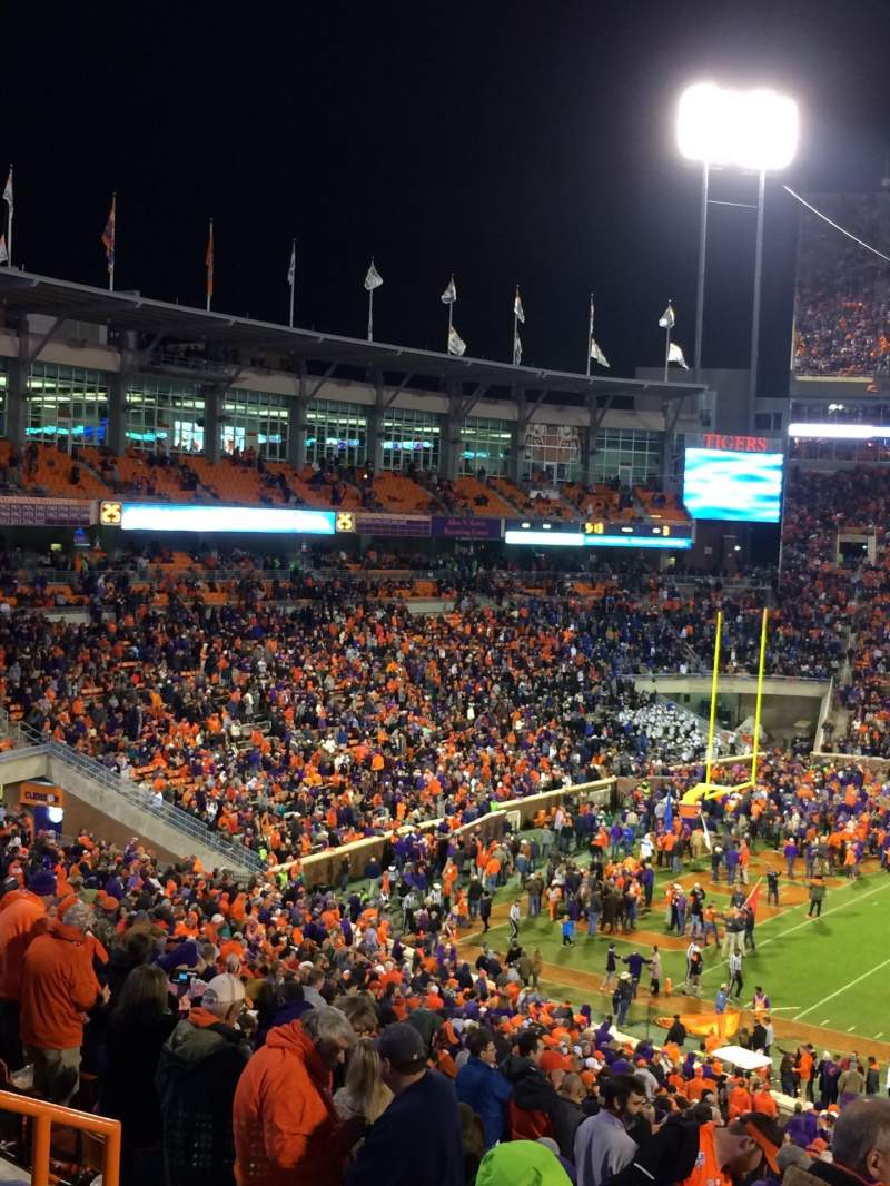 Seating view for Memorial Stadium, Clemson Section UG Row F Seat 15,17