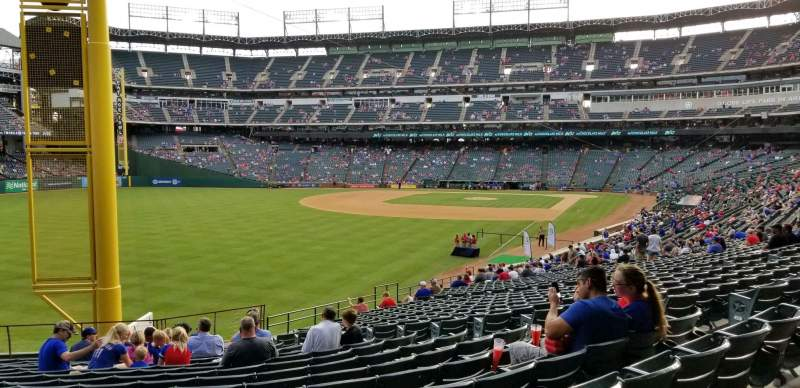 Seating view for Globe Life Park in Arlington Section 9 Row 16 Seat 21