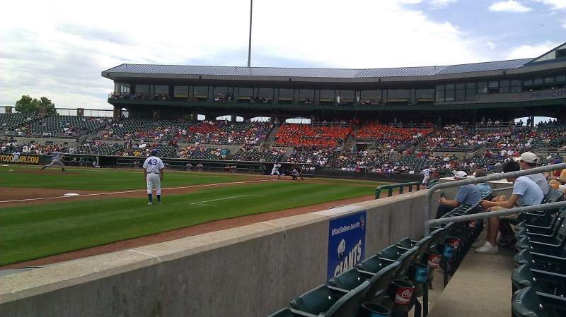 Seating view for Principal Park Section D Row 2 Seat 10