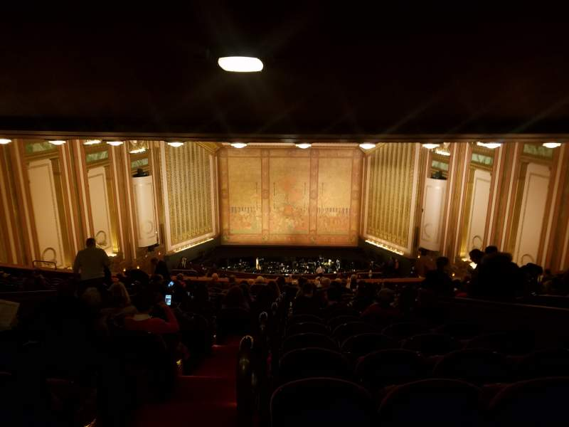 Seating view for Lyric Opera House Section First Balcony Row R Seat 1