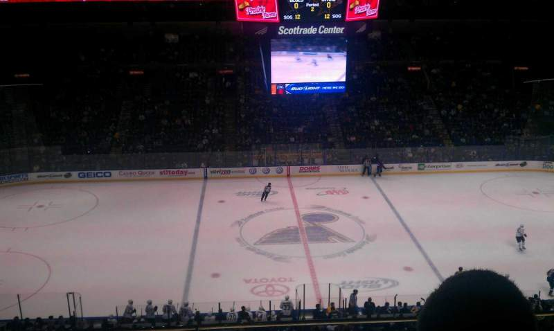 Seating view for Scottrade Center Section 303 Row b Seat 20