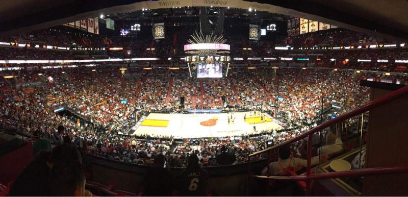 Seating view for American Airlines Arena Section 266 Row 4 Seat 13