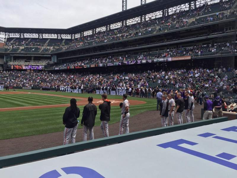 Seating view for Coors Field Section 137 Row 5 Seat 11