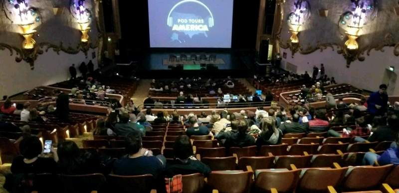 Seating view for Crest Theatre Section UpprBalC Row RR Seat 111