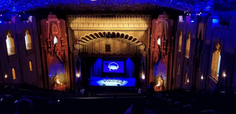 Seating view for Fox Theatre Oakland Section UpperBalc Row BB Seat 126