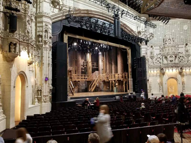 Seating view for Orpheum Theatre (San Francisco) Section orchestra l Row w Seat 25