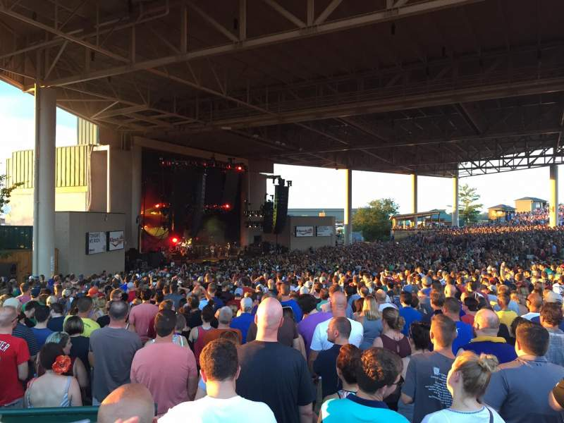 Seating view for Klipsch Music Center Section D Row CC Seat 28