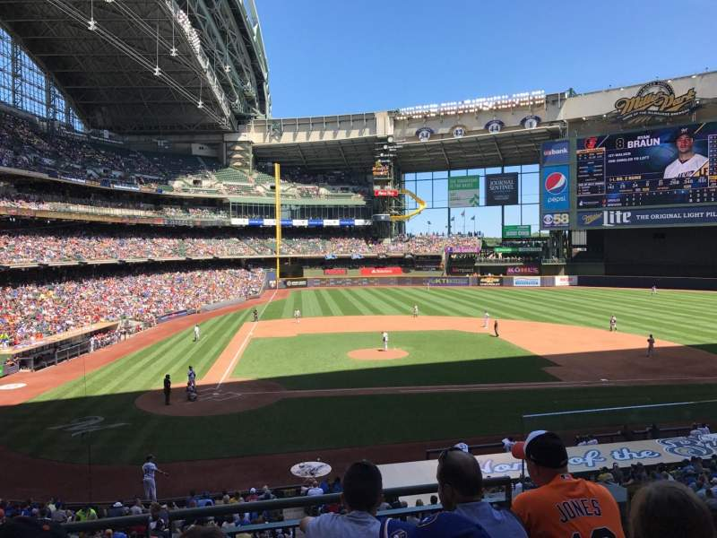 Seating view for Miller Park Section 215 Row 4 Seat 15