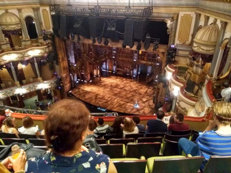 Victoria Palace Theatre, section: Grand Circle, row: G, seat: 3