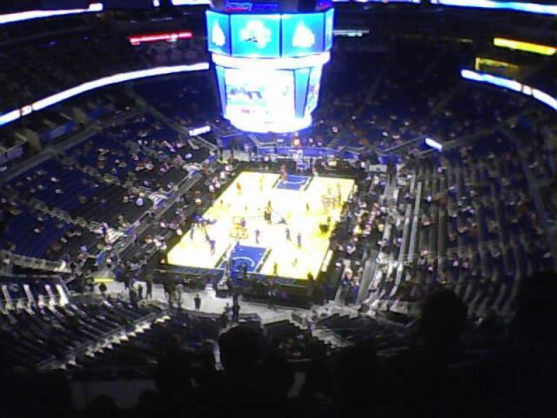 Seating view for Amway Center Section 216 Row 14 Seat 5