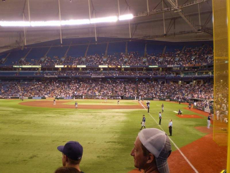 Seating view for Tropicana Field Section 139 Row W Seat 1