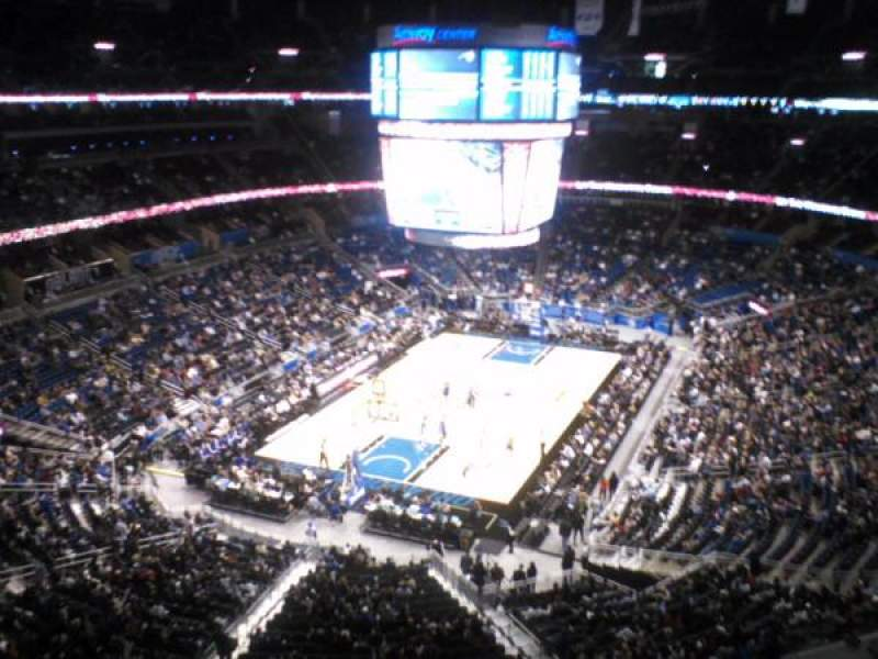 Seating view for Amway Center Section 231 Row 1 Seat 9