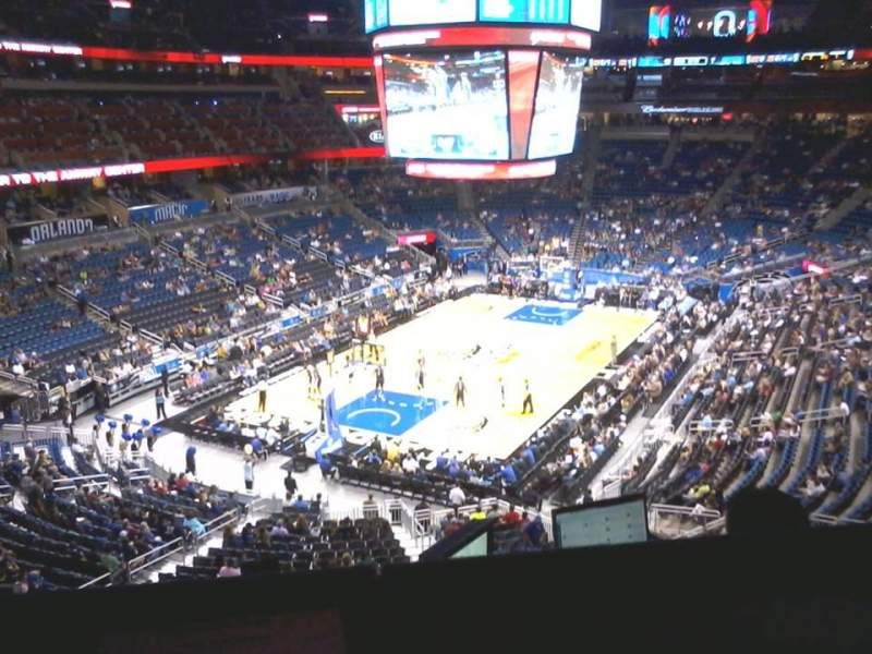 Seating view for Amway Center Section Media Loge