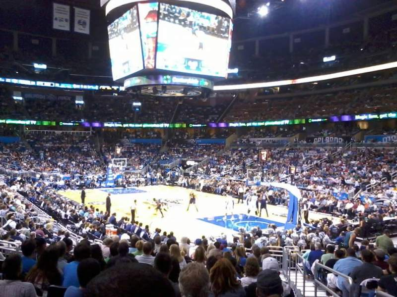 Seating view for Amway Center Section 103 Row 17 Seat 1